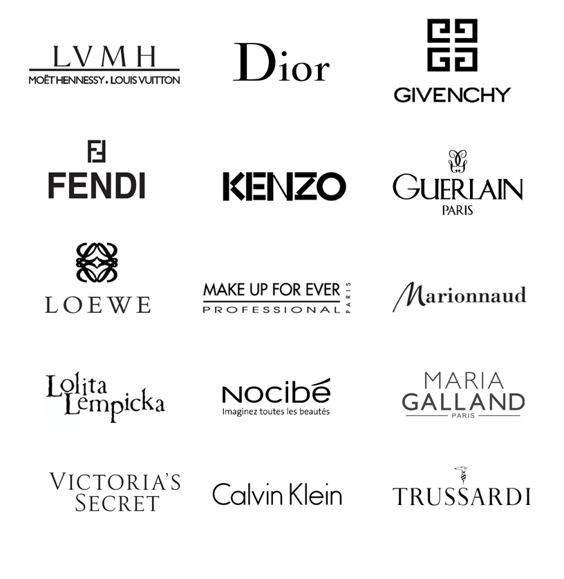 LVMH, Dior, Givenchy, fendi, kenzo, guerlain, loewe, ...